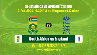 RSA vs Eng ODI 2nd ODI