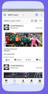 BBM Modifikasi Like iOS style iPhone v3.3.0.16 APK Terbaru