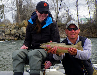 Cool spring fishing on the Bitterroot River
