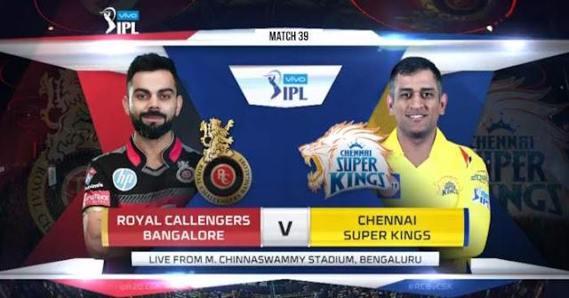 Watch VIVO IPL 2019 Match 39 RCB vs CSK LIVE