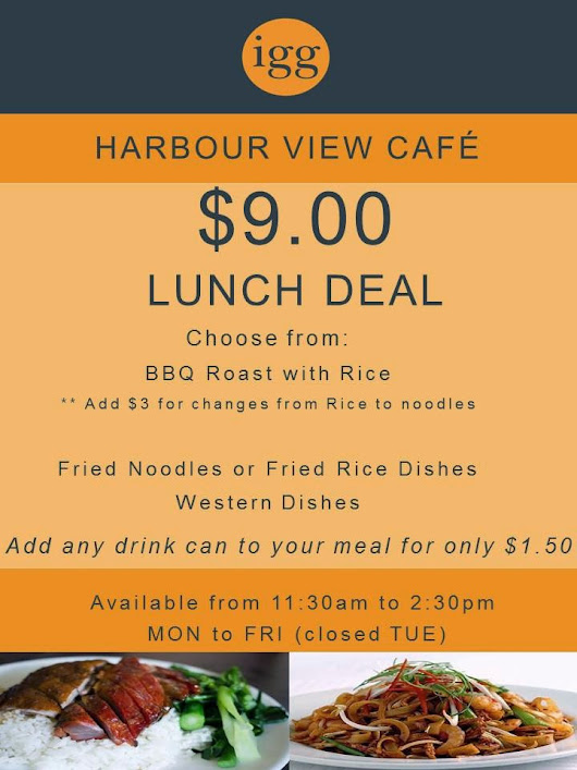 Harbour View Cafe's $9.00 Lunch Special!!
