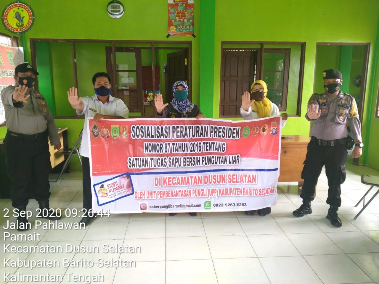 Ajak Cegah Pungli, Personel Polsek Dusel Laksanakan Sosialisasi Perpres Nomor 87 Tahun 2016