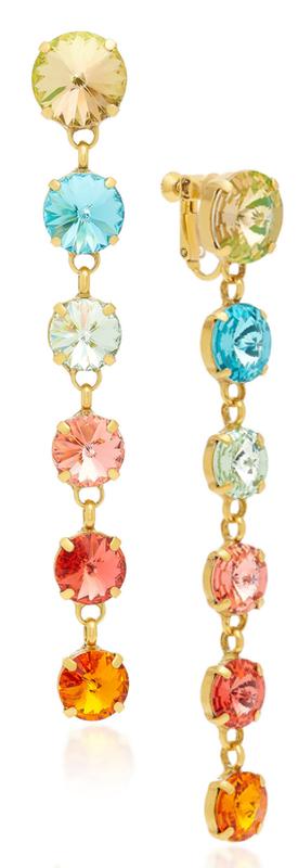 Roxanne Assoulin Technicolor Rainbow Drop Earrings