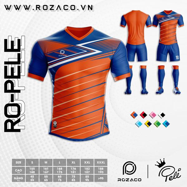 Áo Không Logo Rozaco RO-PELE Màu Cam
