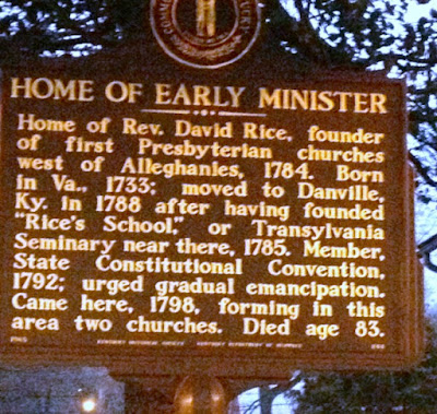 Home of Early Minister - Historical Marker in Greensburg Kentucky
