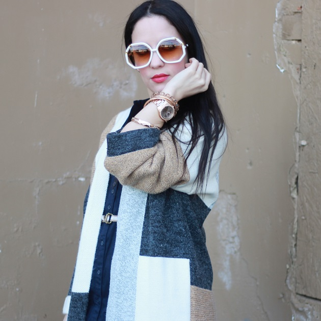 SheIn Color Block Sweater