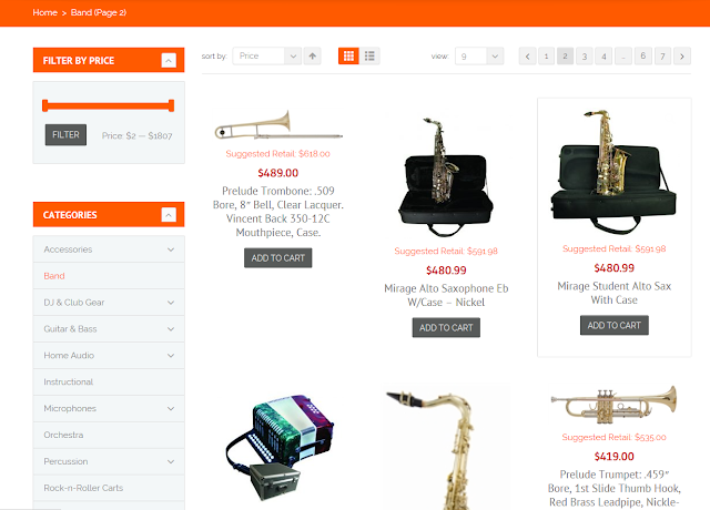 wholesale music instrument retail websites
