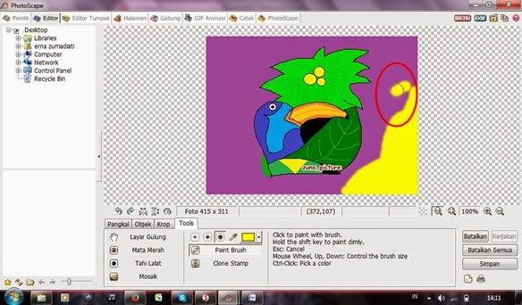 Mengganti Background Foto atau Gambar Lewat Photoscape