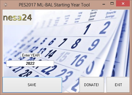PES17 ML-BAL Starting YEAR TOOL