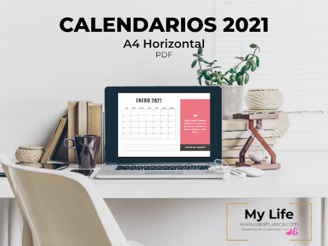 Calendario 2021 mensual para imprimir
