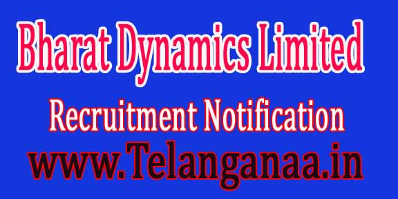 Bharat Dynamics Limited BDL Recruitment Notification 2016