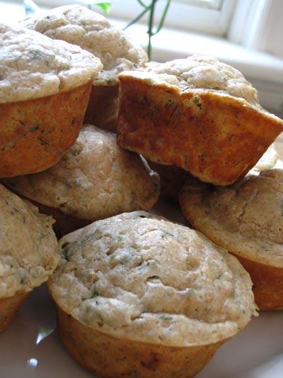 Savory Dill Ricotta Muffins