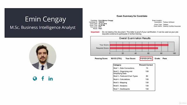 Tableau 2019 + Tableau 2018: Tableau CA Certification 2020