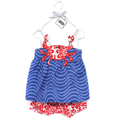Mud Pie Crab Toddler Romper
