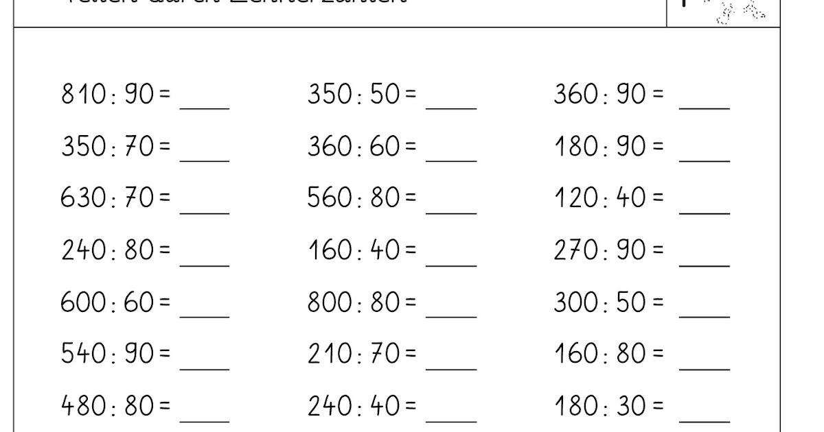 Lernstübchen: dividieren durch Zehnerzahlen