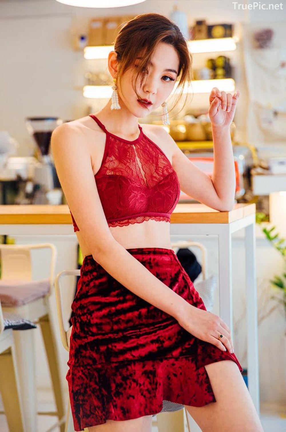 Korean Lingerie Queen - Lee Chae Eun - Red and Black Rabbit Lingerie - TruePic.net - Picture 6
