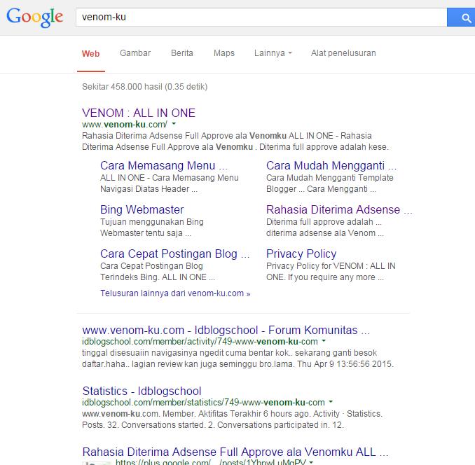 Sub Link Pada Domain Dalam Pencarian Google