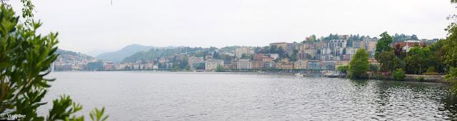 Panorama su Lugano ed il lago omonimo