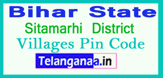 Sitamarhi District Pin Codes in Bihar State