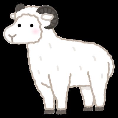 角のある羊のイラスト