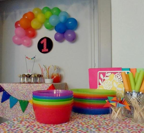 Lalole Blog Una Fiesta De Cumpleanos Arco Iris