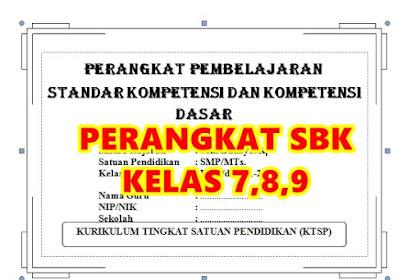 Perangkat Pembelajaran Seni Budaya dan Keterampilan SBK Untuk SMP/MTs Semester 1-2 Tahun 2016/2017