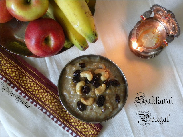 Sakkarai, Paal  Pongal, Innippu Pongal, Sweet pongal with Milk & khoa