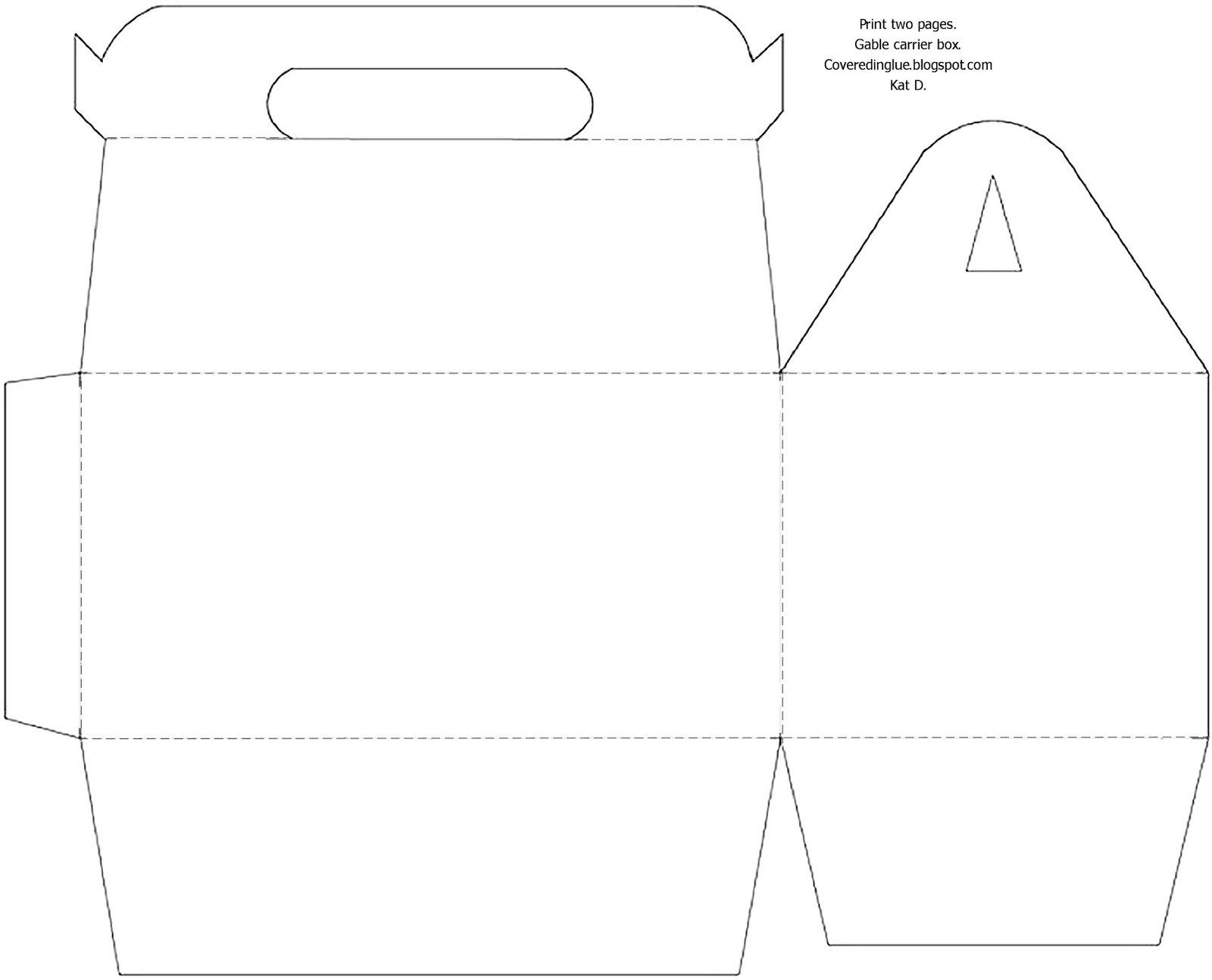 Acura Lease Deals >> Gable Gift Box Template - Gift Ftempo
