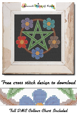 There are five new free magical cross stitch patterns coming at you and also some terrific cross stitch magic puns. AND... just for shits and giggs all of this weeks free magic cross stitch patterns are done on a black background fabric but don't feel you have to use black. Some of these magical cross stitch designs would look pretty cool on hand dyed fabric. There are a couple that would also be perfect for any mutli-coloured or variegated floss you have in your stash.
