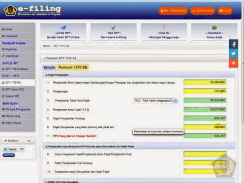 Langkah-langkah Pengisian dan Penyampaian SPT Online melalui E-Filing
