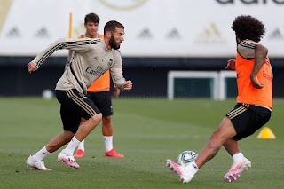 Nuevo dia de entrenamientos en la Ciudad Real Madrid