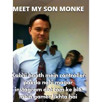 Leonardo DiCaprio Meet My Son Monkey/monke Memes