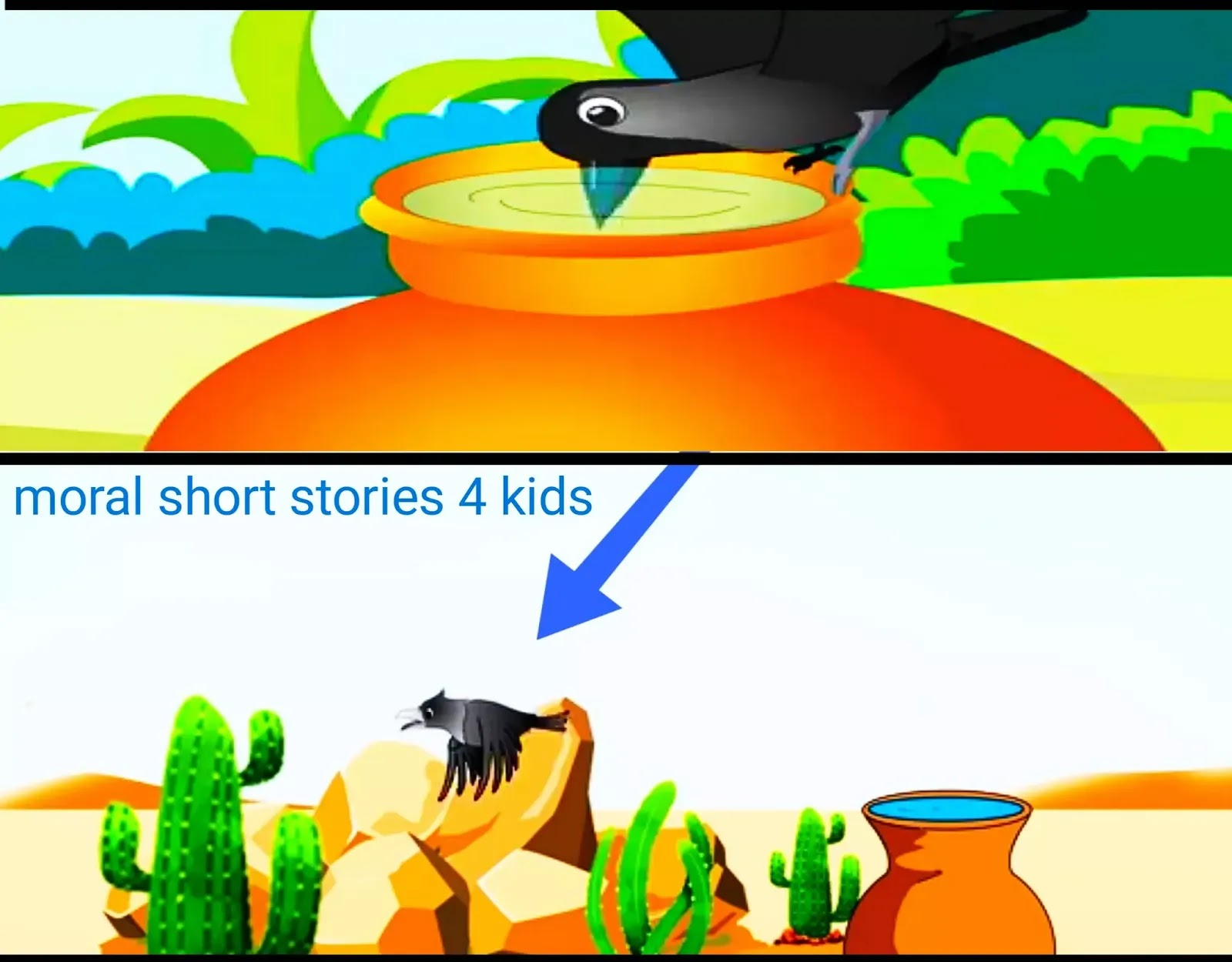 The Thirsty Crow Story with Moral for Kids with picture