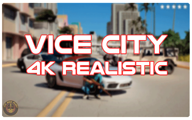 GTA Vice City 4k Realistic Edition By Cyber Mod