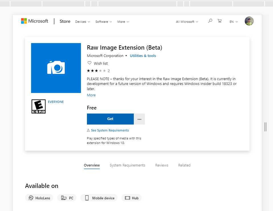 free software to open raw images