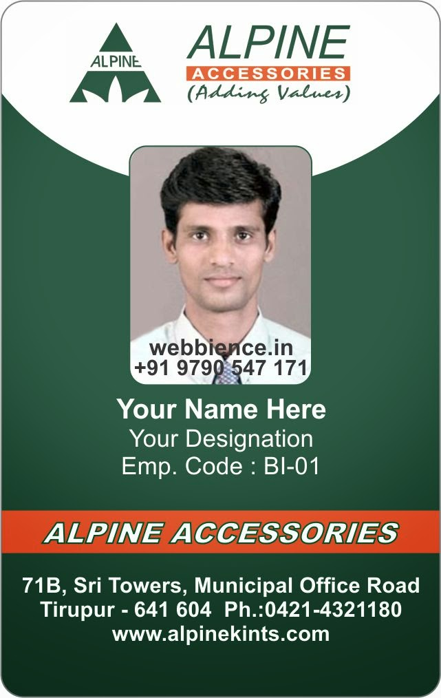 employee identity card template template galleries employee id ...