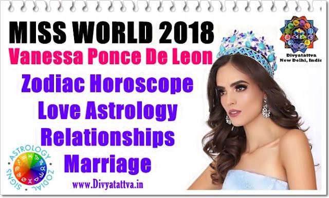 Vanessa Ponce De Leon,mexican celebrity model horoscope, astrology charts, birth charts, kundli, birth date, zodaic sign