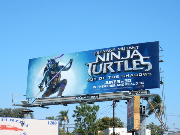 Teenage Mutant Ninja Turtles Out of the Shadows Donatello billboard