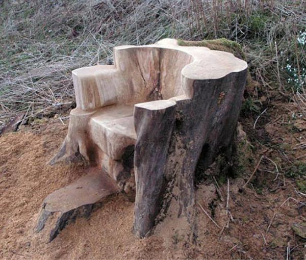 trono de madeira