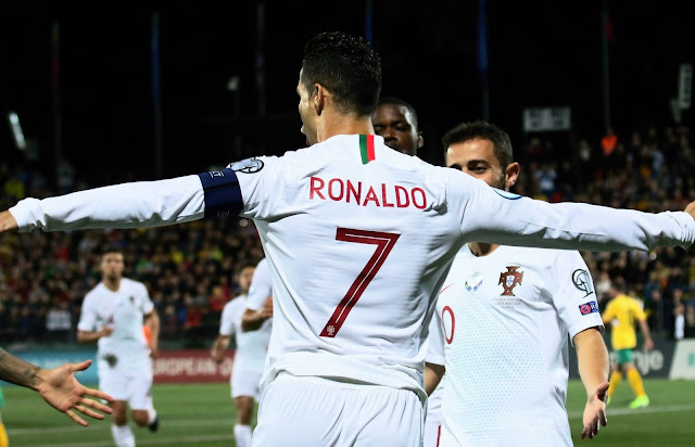 Cristiano Ronaldo Breaks Yet Another Record as He Scores Four Against Lithuania