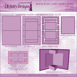 Custom Die: Book Fold Card with Layers