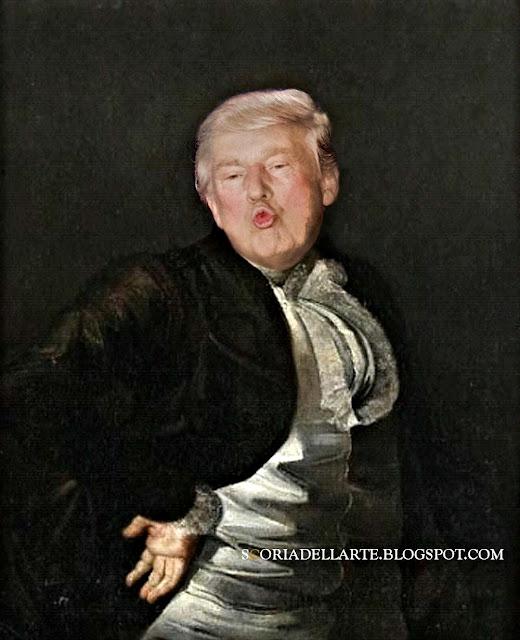 fotomontaggi satirici di politici-Donald Trump nei dipinti classici