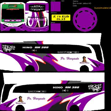 livery hd po haryanto purple