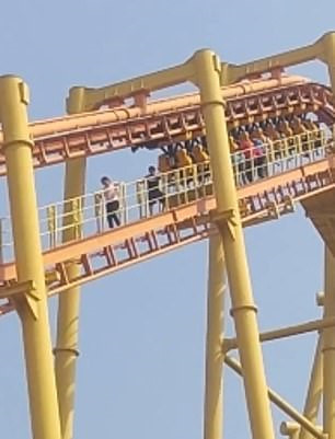 Guests stuck on a roller coaster in China because of a power failure