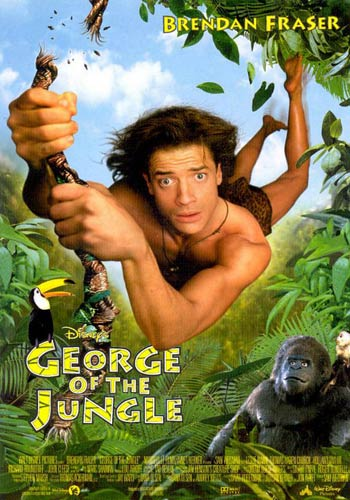 George Of The Jungle 1997 Dual Audio Hindi Dubbed BluRay Poster
