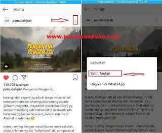 menyimpan video instagram dengan aplikasi downloader