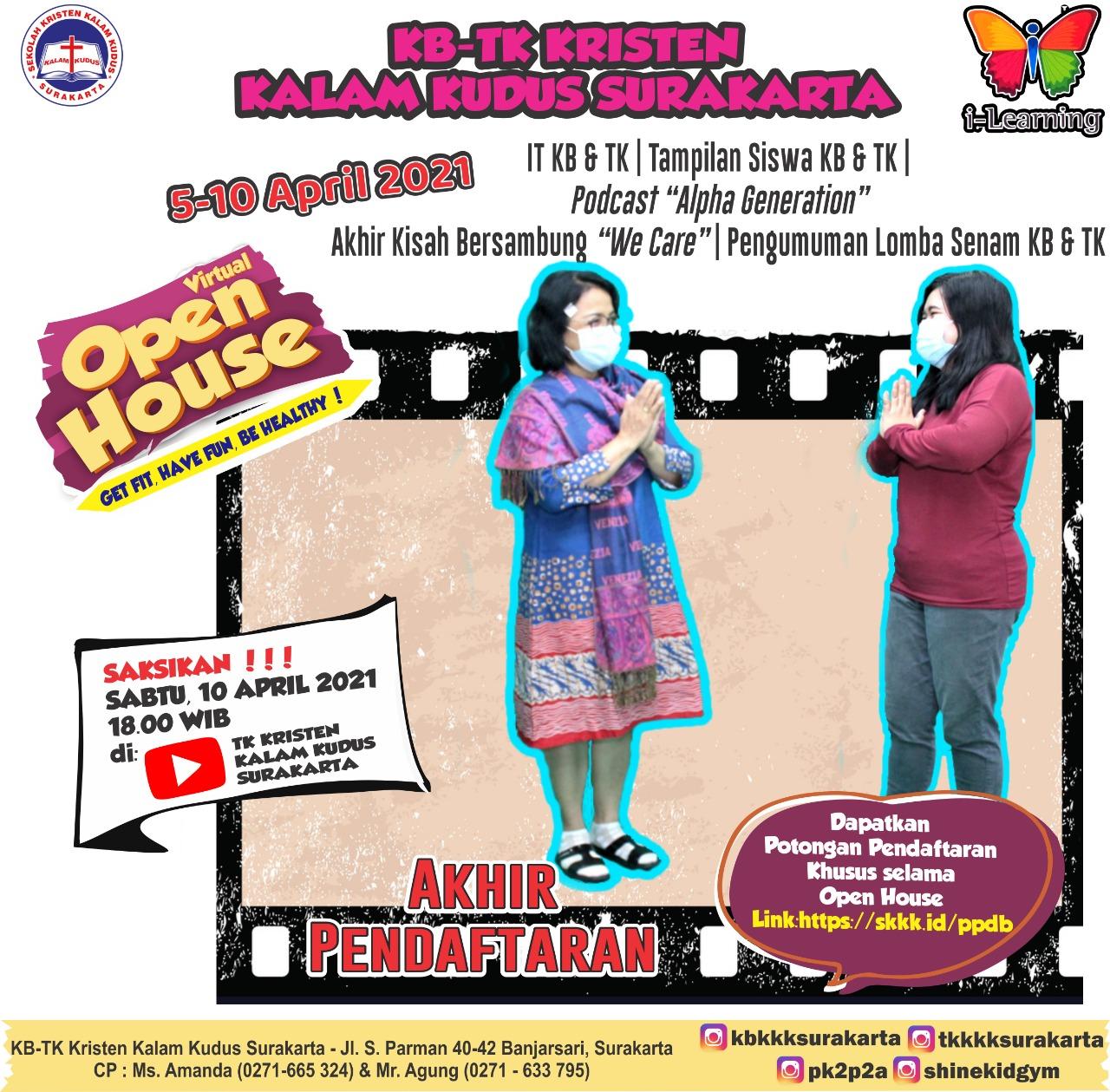 Virtual Open House KB-TK Kristen Kalam Kudus Surakarta - 10 April 2021