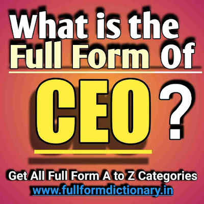 Full Form of CEO, Additional Information of the full form of CEO