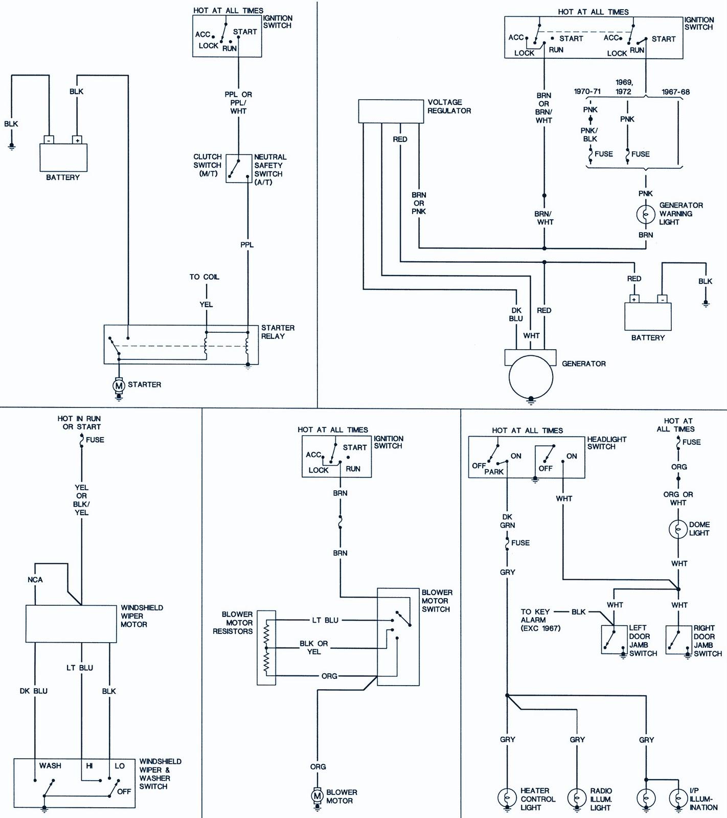 69 camaro wiring schematic