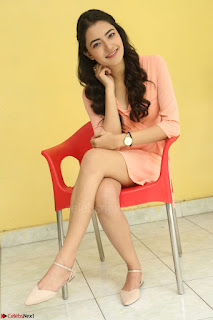 Rukshar Mir in a Peachy Deep Neck Short Dress 041.JPG